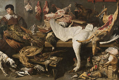 Painting - A Game Stall by Frans Snyders
