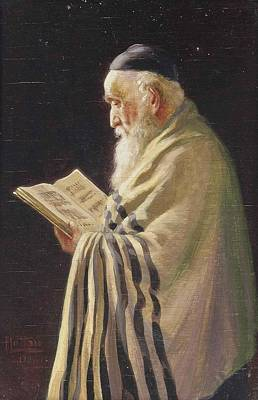 Old Painting - A Jewish Elder by MotionAge Designs