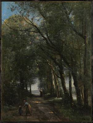A Lane Through The Trees Original by Camille Corot