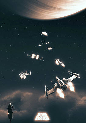 Xwing Digital Art - A New Hope by Colin Morella