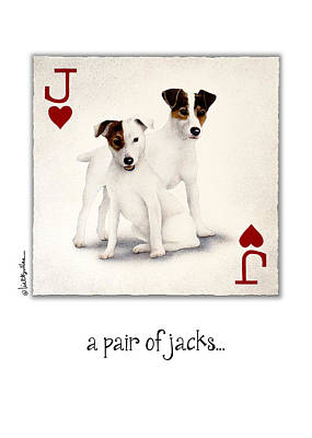 Jack Russell Painting - A Pair Of Jacks... by Will Bullas