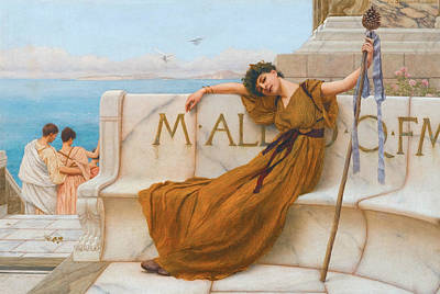 A Priestess Of Bacchus Art Print by John William Godward