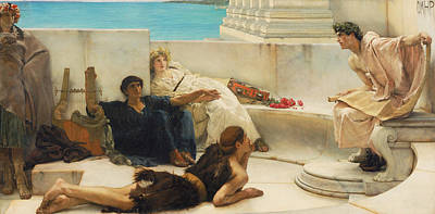 Ancient Rome Painting - A Reading From Homer by Lawrence Alma-Tadema
