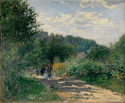 Trail Painting - A Road In Louveciennes by Pierre-Auguste Renoir
