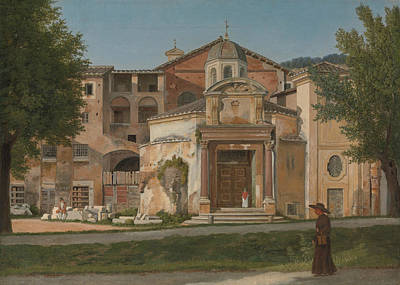 Painting - A Section Of The Via Sacra, Rome  by Christoffer Wilhelm Eckersberg