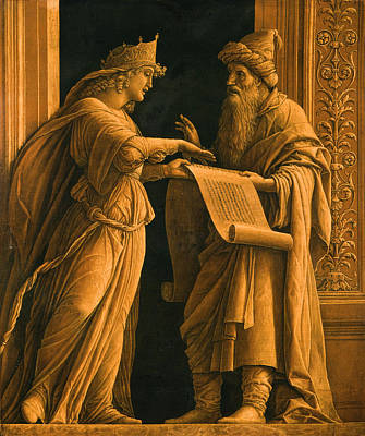Historic Painting - A Sibyl And A Prophet by Andrea Mantegna