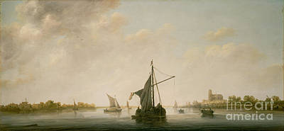 Painting - A View Of The Maas At Dordrecht by Celestial Images