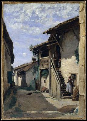 A Village Street Dardagny Original by Camille Corot