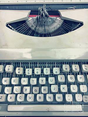 A Vintage Typewriter Art Print