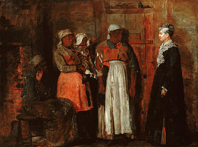 African-american Painting - A Visit From The Old Mistress by Winslow Homer