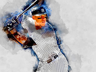 New York Yankees Mixed Media - Aaron Judge by Marvin Blaine