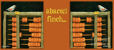 Painting - Abacus Finch... by Will Bullas