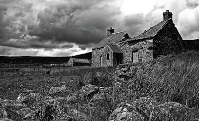 Dilapidated House Photograph - Abandoned Cottage - Scotland by Lee Mcgilviray