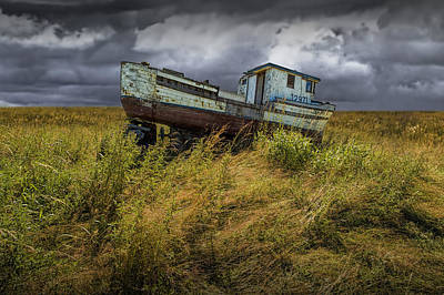 Photograph - Abandoned Fishing Boat In Washington State by Randall Nyhof