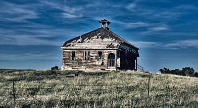 Photograph - Abandoned One Room Schoolhouse by Mountain Dreams