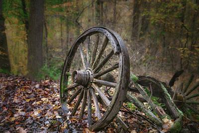 Antique Photograph - Abandoned Wagon by Tom Mc Nemar