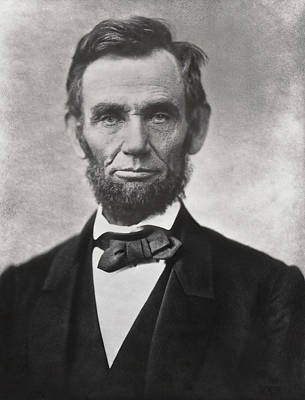 Big Ears Photograph - Abraham Lincoln - 16th U S President by Daniel Hagerman