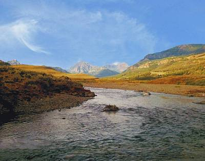 Photograph - Absaroka Mountains From Soda Butte Creek by Joe Duket