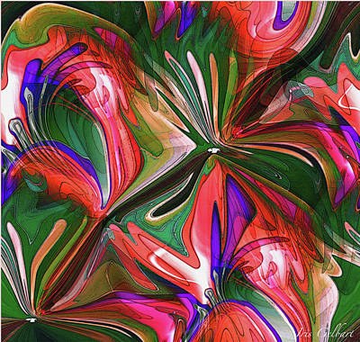 Digital Art - Abstract Blooms by Iris Gelbart