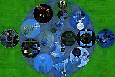 Fanciful Digital Art - Abstract Painting - Blue Gray by Vitaliy Gladkiy