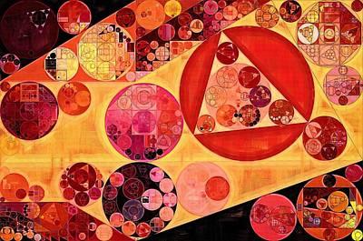 Fanciful Digital Art - Abstract Painting - Bulgarian Rose by Vitaliy Gladkiy