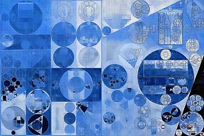 Blue Sapphire Digital Art - Abstract Painting - Carolina Blue by Vitaliy Gladkiy