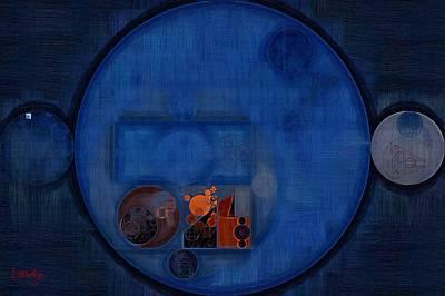 Fanciful Digital Art - Abstract Painting - Dark Cerulean by Vitaliy Gladkiy