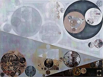 Fanciful Digital Art - Abstract Painting - Lavender Gray by Vitaliy Gladkiy