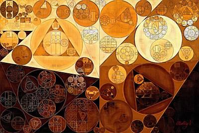 Light Paint Digital Art - Abstract Painting - Light Brown by Vitaliy Gladkiy