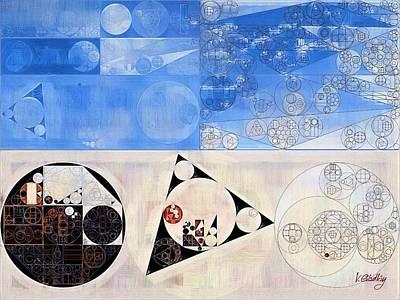 Light Paint Digital Art - Abstract Painting - Light Gray by Vitaliy Gladkiy