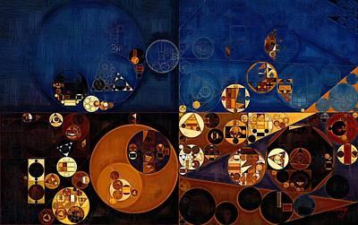 Rectangles Digital Art - Abstract Painting - Sapphire by Vitaliy Gladkiy