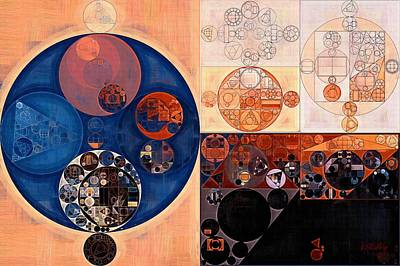 Abstract Painting - Sepia Art Print