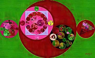 Green Color Digital Art - Abstract Painting - Up Maroon by Vitaliy Gladkiy