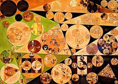 Feelings Digital Art - Abstract Painting - Zinnwaldite Brown by Vitaliy Gladkiy
