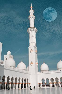 Digital Painting - abu dhabi The Minaret by Adam Asar