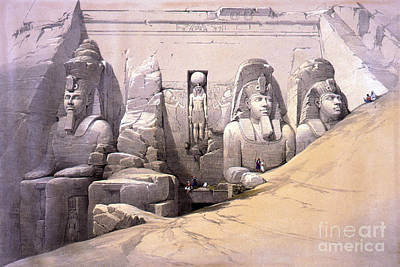 Abu Simbel Temple, 1830s Art Print by Science Source