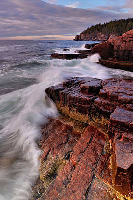 Photograph - Along The Acadia Coast by Stephen  Vecchiotti