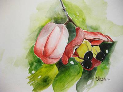Jamaican Art Painting - Ackee  by Wandeka Gayle