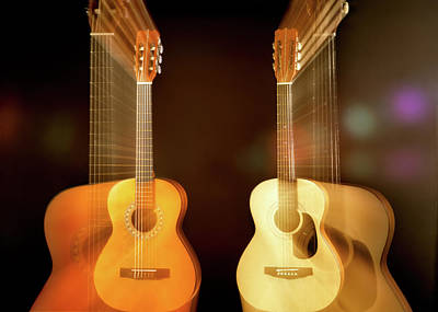 Guitar Photograph - Acoustic Overtone by Leland D Howard