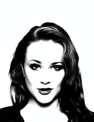 True Blood Digital Art - Actress Evan Rachel Wood  by Best Actors