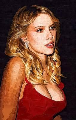 Actress Scarlett Johansson  Art Print by Best Actors
