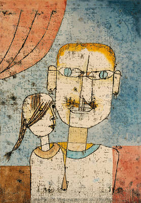 Drawing - Adam And Little Eve by Paul Klee