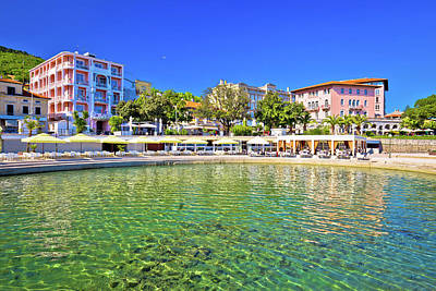 Photograph - Adriatic Town Of Opatija Beach And Waterfront View by Brch Photography