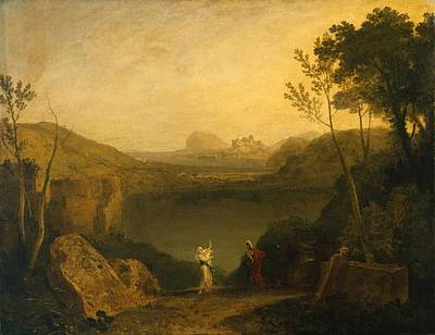 Aeneas Painting -  Aeneas And The Sibyl by Joseph Mallord
