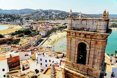 Aerial Panoramic View Of Peniscola City In Spain Art Print