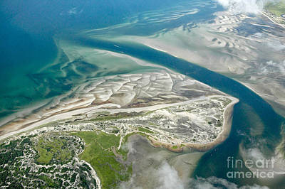 Aerial Vew Of Sandy Neck Beach In Barnstable On Cape Cod Massac Art Print by Matt Suess