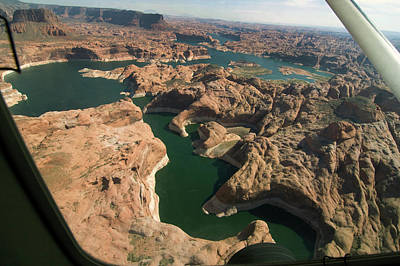 Photograph - Aerial View Of Tributary To Lake Powell by Carl Purcell