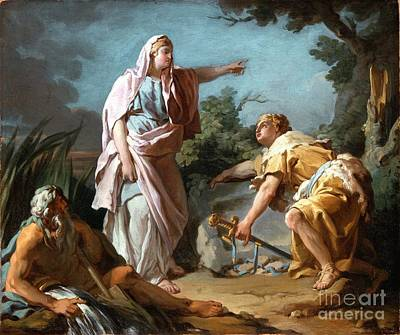 Theseus Painting - Aethra Showing Her Son Theseus The Place Where His Father Had Hidden His Arms by Celestial Images
