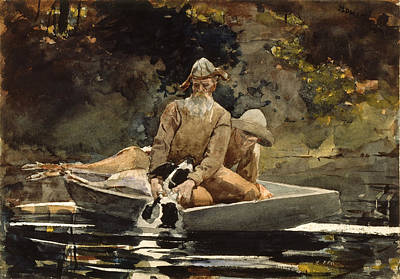 Winslow Homer Drawing - After The Hunt by Winslow Homer