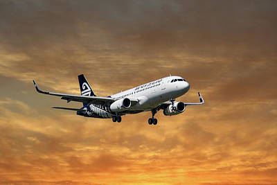 Air New Zealand Airbus A320 Art Print